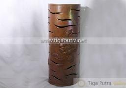 lampu dinding tembaga motif kura-kura feng shui