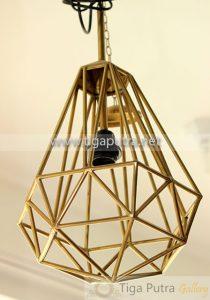 lampu kuningan gantung unik